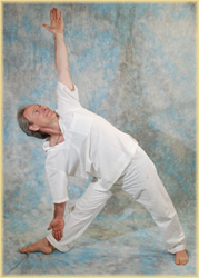 Dr. Halpern Practicing Yoga asanas