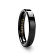 VIENNA 4mm Beveled Black Tungsten Band