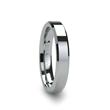 ROMA 4 mm Beveled Tungsten Carbide Wedding Ring