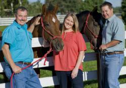 Jim Zamzow, Callie Novak, Jos Zamzow, all-natural horse feed