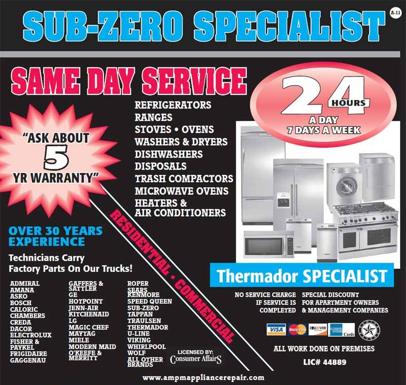 Am Pm Los Angeles Appliance Repair Offers 10 Off All Repairs