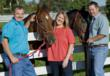 Jim Zamzow, Callie Novak, Jos Zamzow, all-natural horse feed