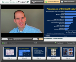 Recording video in KnowledgeVision's online presentation software tool