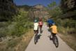 Families can shuttle to the start of the Glenwood Canyon Bike Trail, for a 16-mile easy downhill pedal back to town