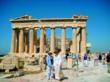 Smithsonian travelers explore the Parthenon in Athens