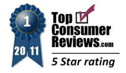 TopConsumerReviews.com 2011 5-Star Award