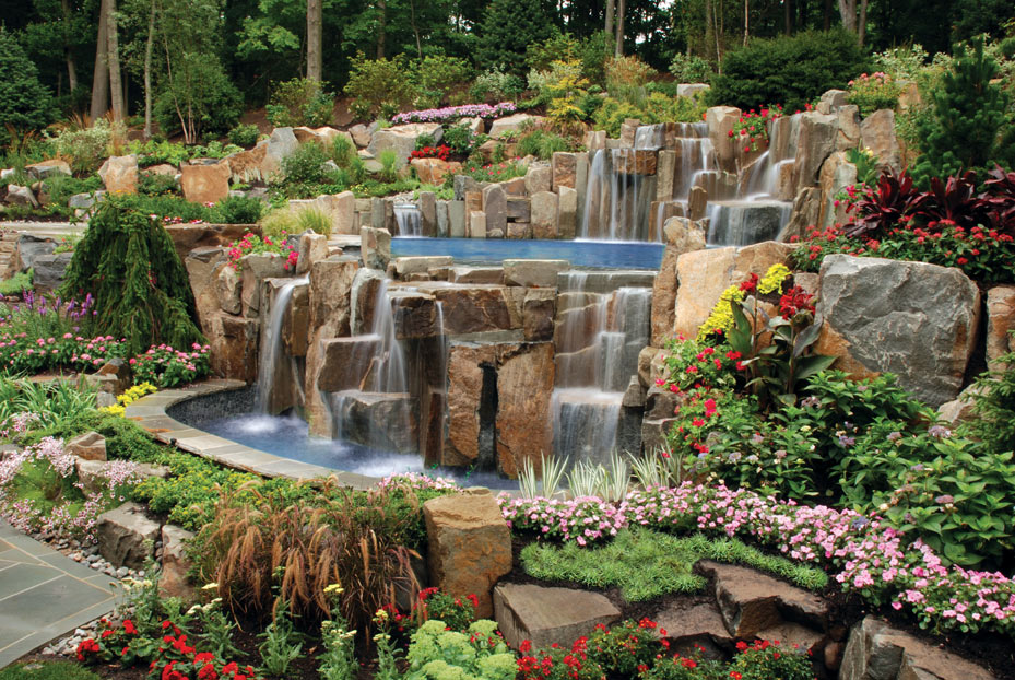 Swimming pool project in saddle river new jersey wins for Idea de deco garden rockery