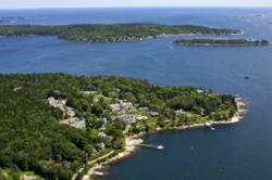 Spruce Point Inn aerial view.