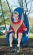 Molded Bucket Seat with Harness by Landscape Structures Inc.