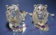 Official Swarovski SCS Lion (left), Frosted Mane Lion (right)
