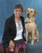 Tina Ciarciello (of Wethersfield) poses for a photo with Khaki