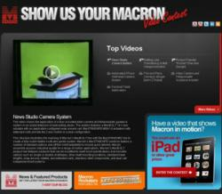 Macron Video Contest Page Screenshot