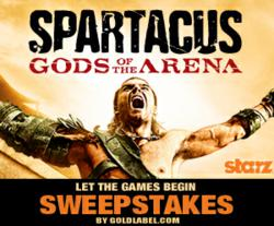"Enter the Gold Label ""Spartacus: Gods of the Arena"" Sweepstakes on Facebook"