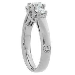 Ideal Eternity Cut Three Stone Diamond Ring Features Amoro's Personal Pleasures