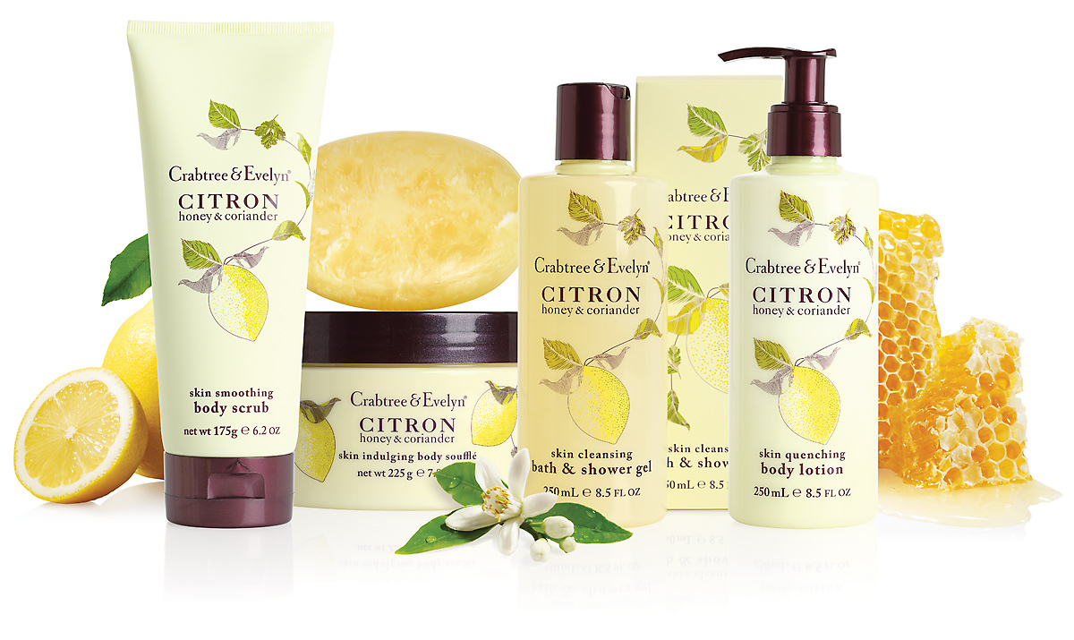 crabtree evelyn introduces new citron a naturally refreshing bath body care range featuring. Black Bedroom Furniture Sets. Home Design Ideas