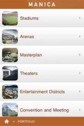 Manica Architecture Portfolio App Menu