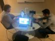 The LaunchRock Team Working Through the Night at the Philly Startup Weekend