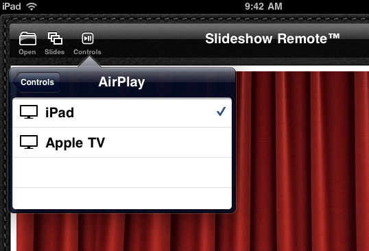 slideshow remote  first iphone application to display