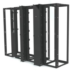 Siemon's VersaPOD™ 4-Post Network and Data Center Rack System  - Compatible With Zero-U Vertical Patching and Cable Management