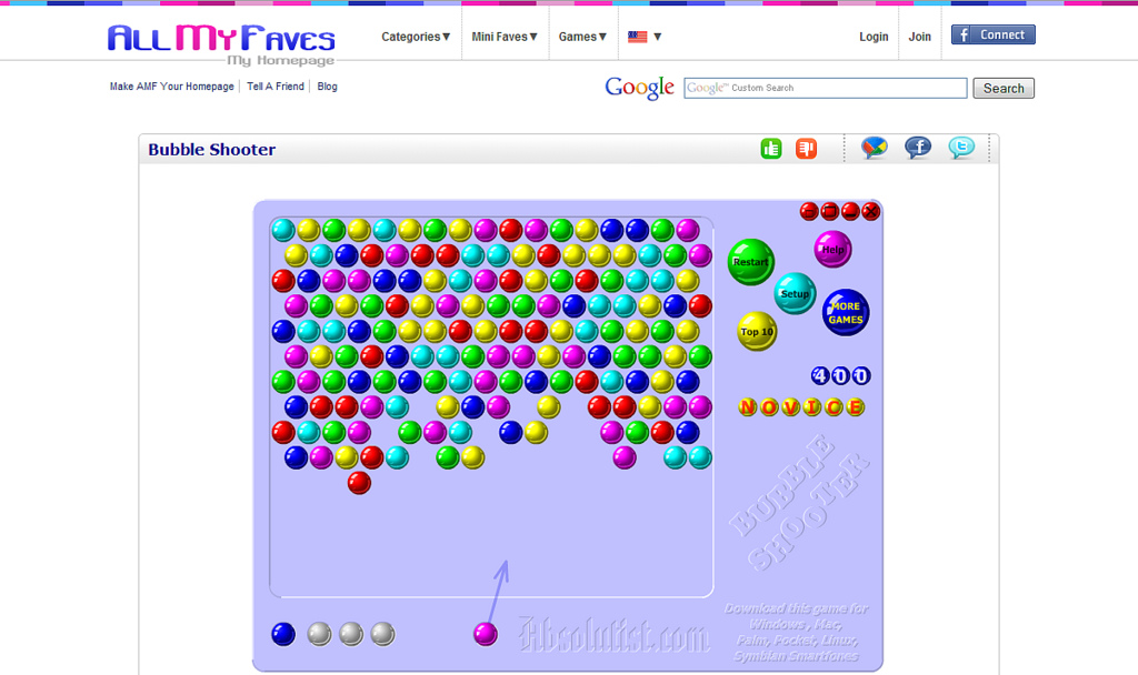 all my faves games bubble shooter
