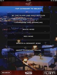 Tiare Technology Wireless WineList Solution displays restaurant wine menus on a wireless tablet
