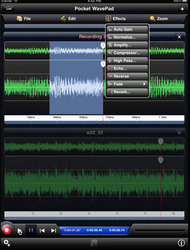 Pocket WavePad HD Audio Editing iPad App