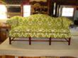 This camelback sofa looks completely fresh and updated in a graphic print called Silhouette from Calico Corners - Calico Home.