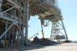 Scrap metal removal from Kennedy Space Center Launch Pad 39B