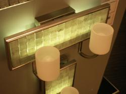 LED bath lighting by Quoizel.