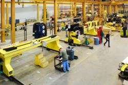 ESAB Manufacturing, lean techniques, modular design, cutting gantries