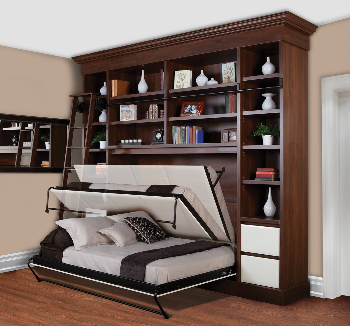 side wall bed book case wall beds are a brilliant way to conserve