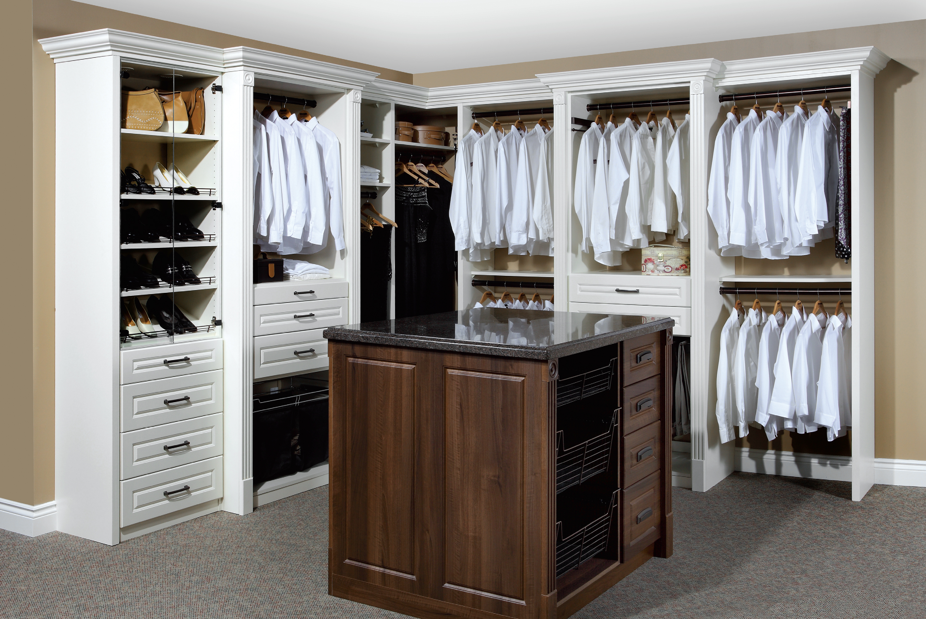 Closets Design Ideas big closet design ideas Shaped Walk Closet Design Ideas Closet Systems Design Ideas