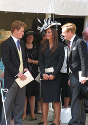Kate Middleton with Prince William's brother Prince Harry