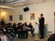 Featured speaker Carlos Marquez lectures more than 150 small business owners on vital tax season information