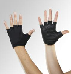 Palm has non-slip grip palm for secure hand placement.