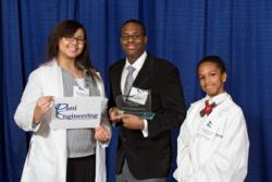 Brittany Andrade, Matthew Lenton, and Amber Young of Detroit Edison Public School Academy