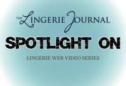 A logo for the Lingerie Journal's new videos series, Spotlight On
