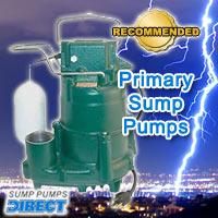 primary sump pump, primary sump pumps, sump pump, sump pumps