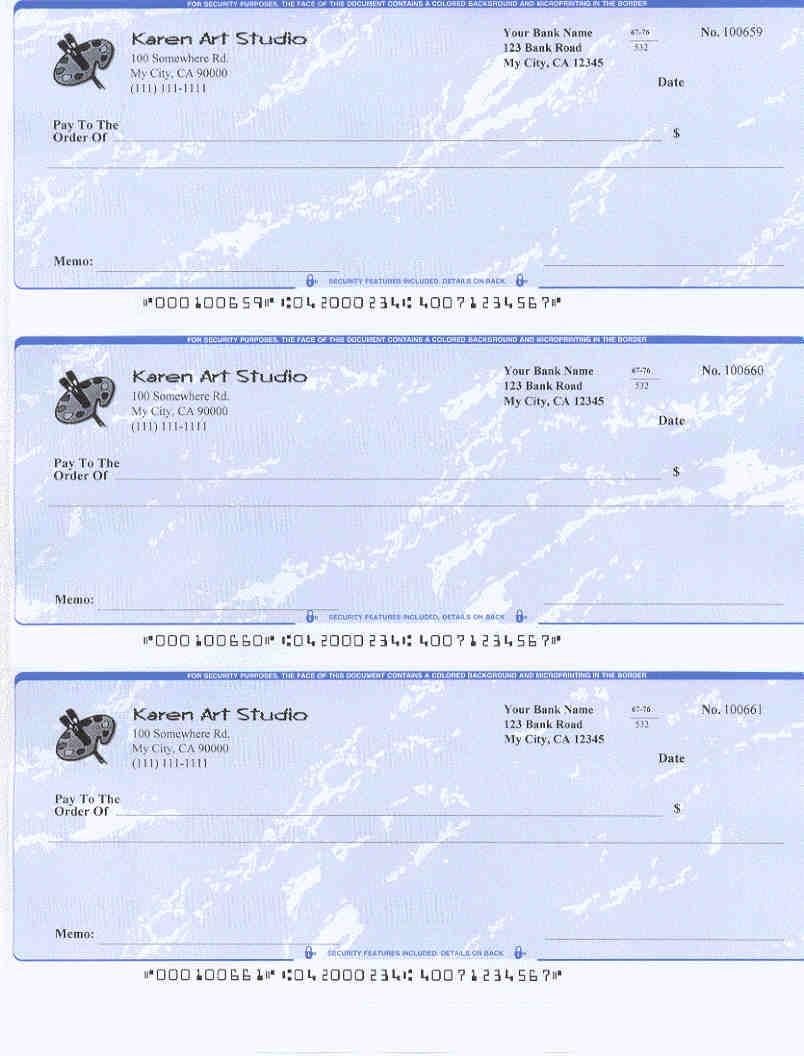 3perpage Check Printed By Ezcheckprintingezcheckprinting Can Generate  Preprinted Micr Check Ez1095