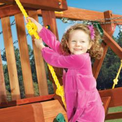 Knotted Rope and Angled Climber Wall for Woodplay Swingset