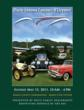 Artist's rendition of three vintage cars on the green at the Marin Civic Center, Marin County, CA