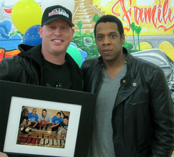 Erik Sigurdson, Jay Z, LeBron James, 2 kings, boys and girls club, los angeles, all star weekend