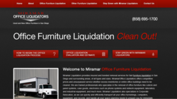 san diego CA office furniture liquidation new used business