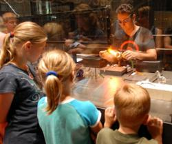 Kids explore at The Corning Museum of Glass