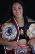 Three-time world boxing champion, Ana Julaton.