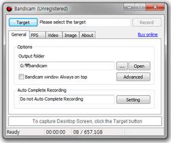 Bandicam is a high performance Game Recorder, Video Capture, and Desktop Screen Capture program