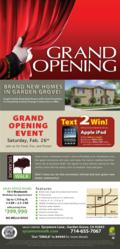 Sycamore Walk's Model Grand Opening February 26th