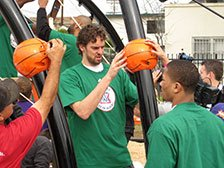 basketball themed playground build
