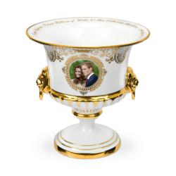Royal commemoratives expert Stephen Church believes this Royal Wedding Lion's Head Vase is highly collectible based on its high quality and very limited production.