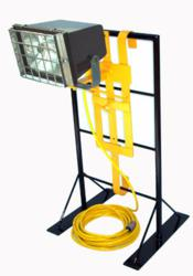 Class 1 Division 2 metal halide light on scaffold or ladder mount